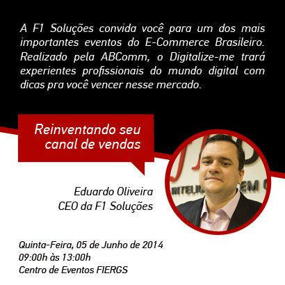 CEO da F1 Soluções é palestrante do Digitalize-me