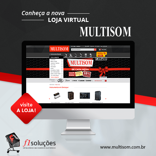 Conheça a nova loja virtual da Multisom